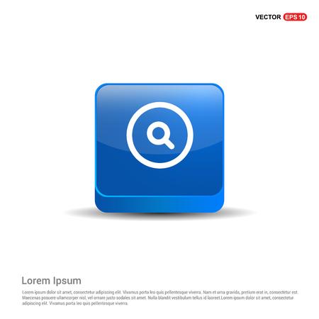 Clock Icon - 3d Blue Button. Vectores