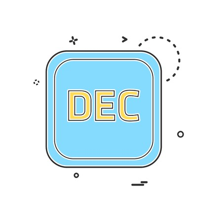 December Calender icon design vector