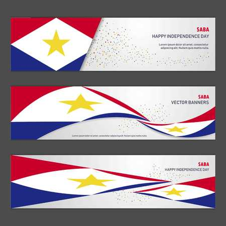 saba independence day abstract background design banner and flyer, postcard, landscape, celebration vector illustration