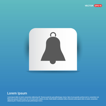 Bell Icon - Blue Sticker button Ilustração Vetorial