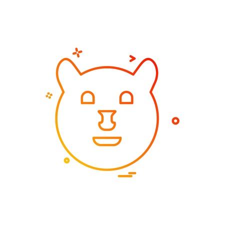 Bear icon design vector Stock Vector - 110116341