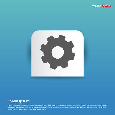 Setting Icon - Blue Sticker button