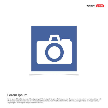 Photo camera icon - Blue photo Frame