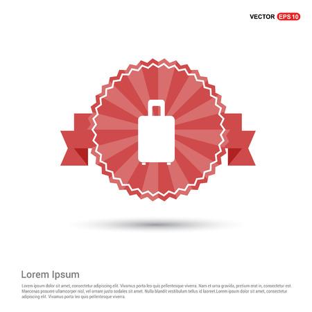 Bag icon - Red Ribbon banner Illustration