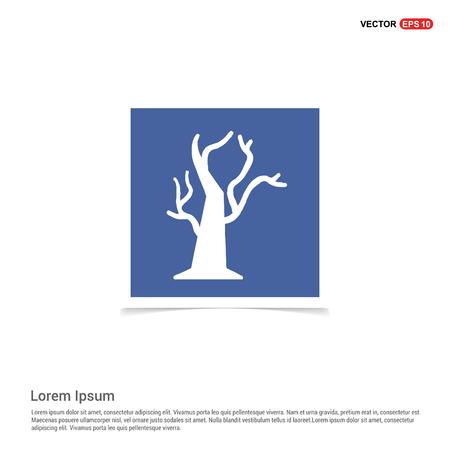 Halloween Tree icon - Blue photo Frame