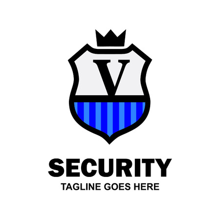 Alphabetical logo of security compnay and typography vector