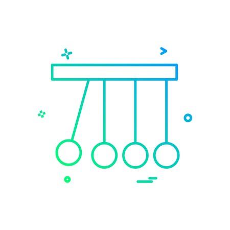 Pendulum icon design vector