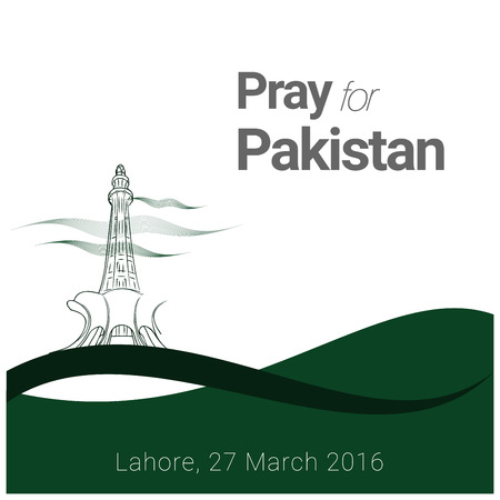 Pray for Pakistan with typographic design vector Banco de Imagens - 110119639