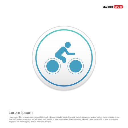 Track Cycling Icon - white circle button