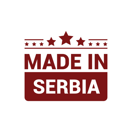 Serbia stamp design vector