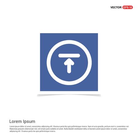 Upload Icon - Blue photo Frame