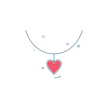 heart love gift necklace icon vector design Banque d'images - 110119743