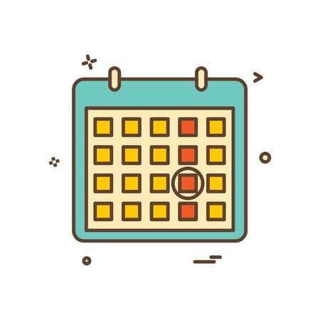 calendar date point icon vector design
