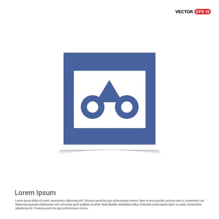 glasses frame icon - Blue photo Frame