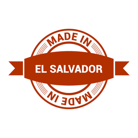 El Salvador stamp design vector