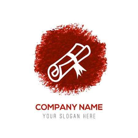 Icono de sello de beca - Red WaterColor Circle Splash
