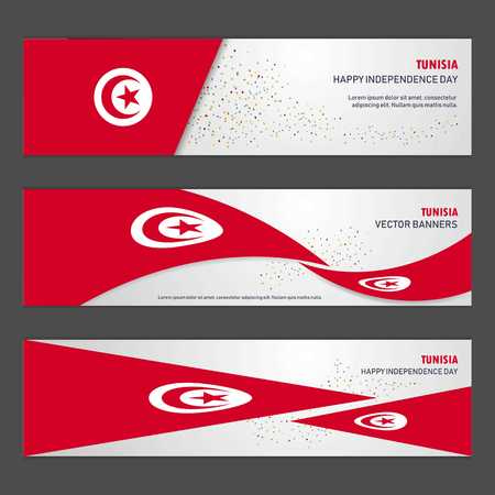 Tunisia independence day abstract background design banner and flyer, postcard, landscape, celebration vector illustration