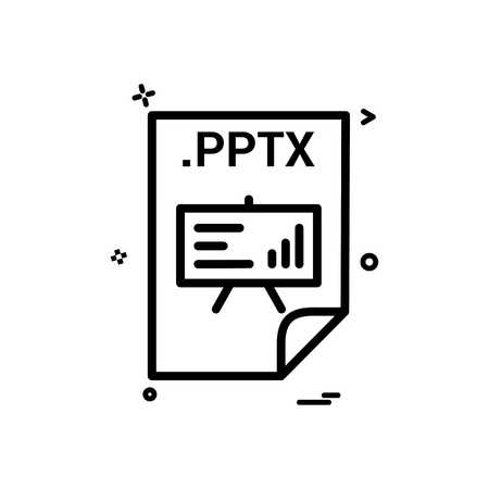 PPTX application download file files format icon vector design