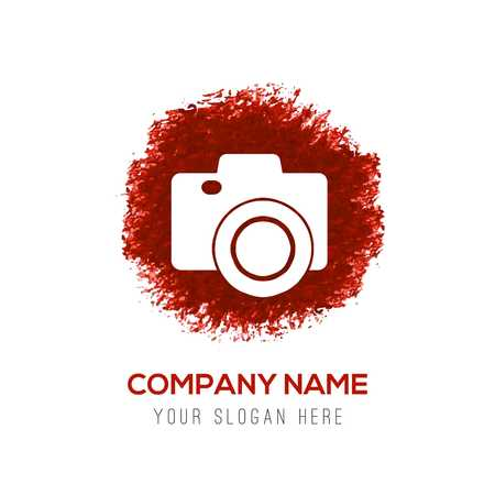 Photo camera icon - Red WaterColor Circle Splash