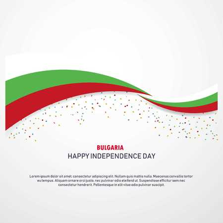 Bulgaria Happy independence day Background