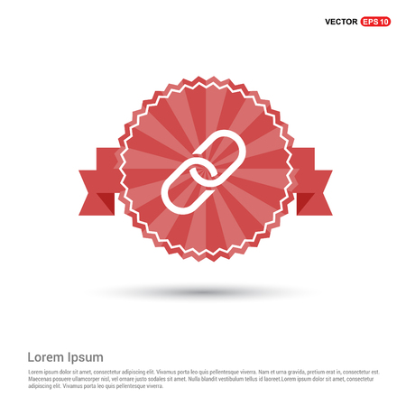paper clip icon - Red Ribbon banner