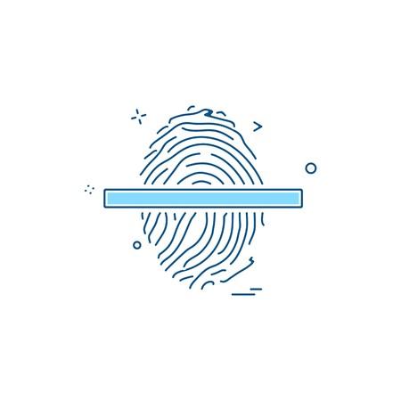 Vector de diseño de icono de huella digital
