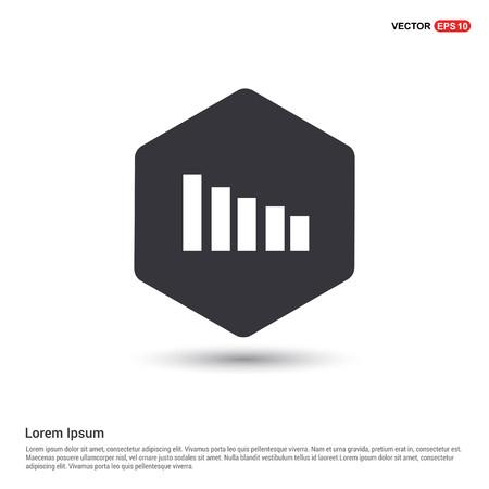 Volume Icon Hexa White Background icon template - Free vector icon