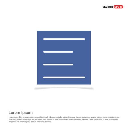 Align text icon - Blue photo Frame