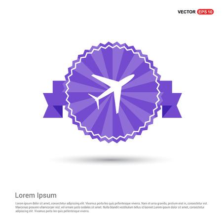 Airplane icon - Purple Ribbon banner