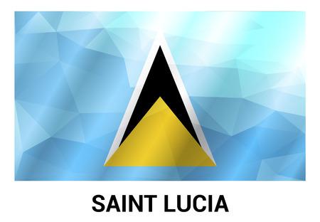 Saint Lucia flags design vector