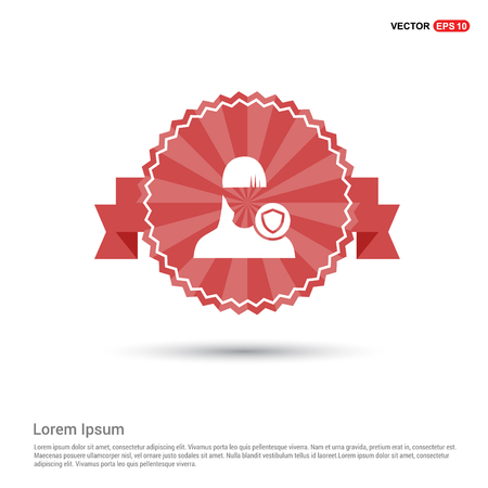 Protected user icon - Red Ribbon banner
