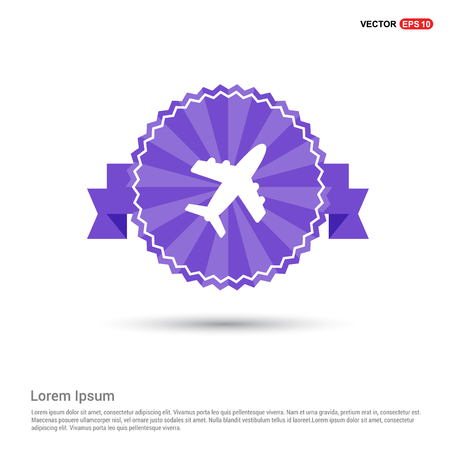 Airplane icon - Purple Ribbon banner