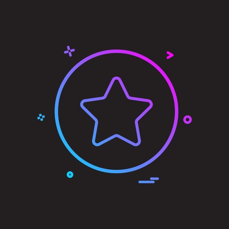 star basic icon vector design