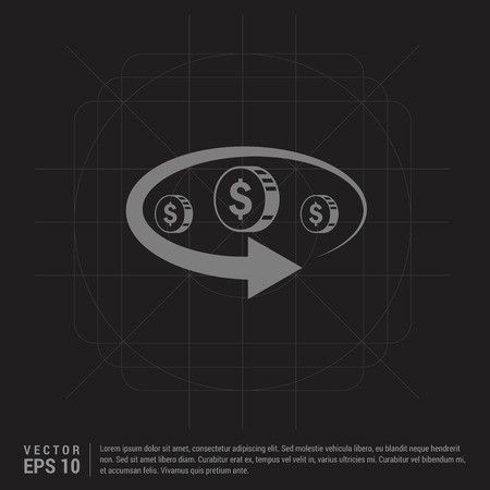 Money Transfer Icon - Black Creative Background - Free vector icon