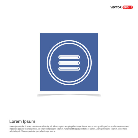 menu icon - Blue photo Frame  イラスト・ベクター素材