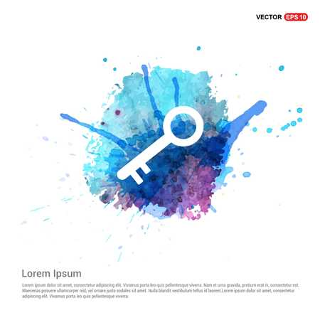 key icon - Watercolor Background