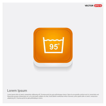 Laundry symbols icon Orange Abstract Web Button - Free vector icon