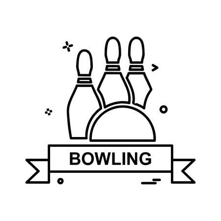 Bowling icon design vector 向量圖像