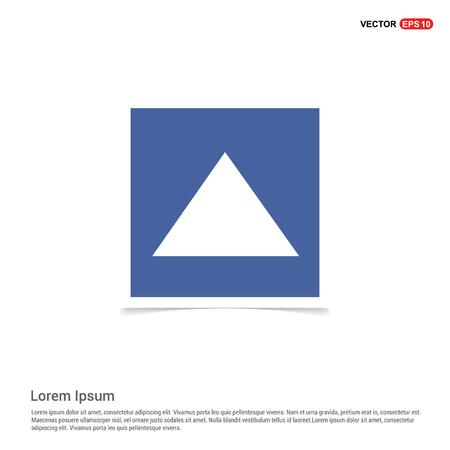 Upper Arrow Icon - Blue photo Frame
