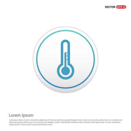 thermometer Icon - white circle button