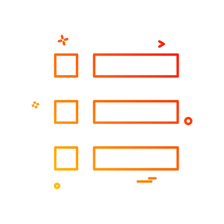 Bullet  list  menu  options icon vector design