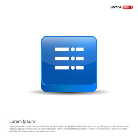 menu icon - 3d Blue Button.  イラスト・ベクター素材