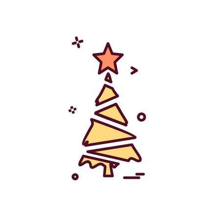 Christmas tree icon design vector