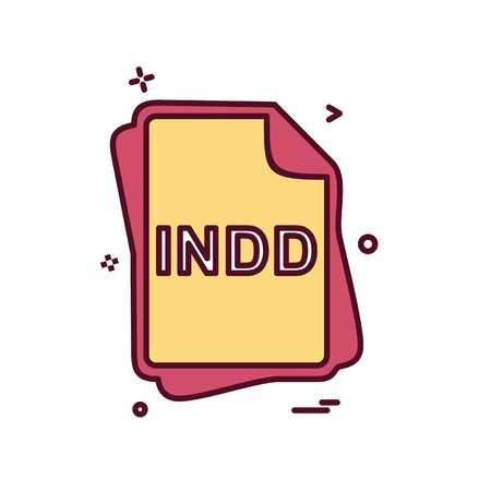 INDD file type icon design vector 向量圖像