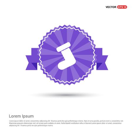 Icon socks - Purple Ribbon banner