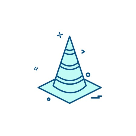 Cone icon design vector