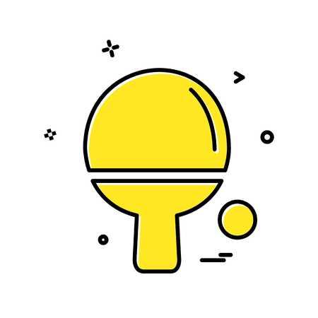 Table tennis icon design vector