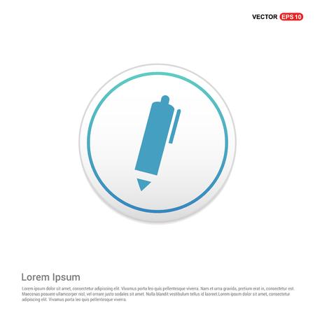 Writing pen icon - white circle button