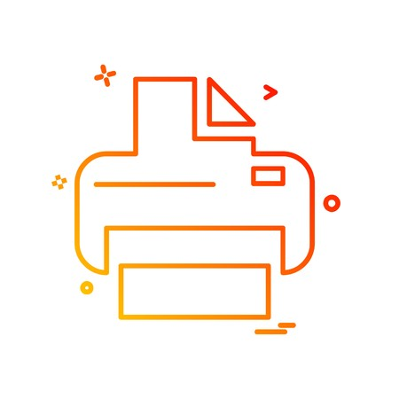 Printer icon design vector
