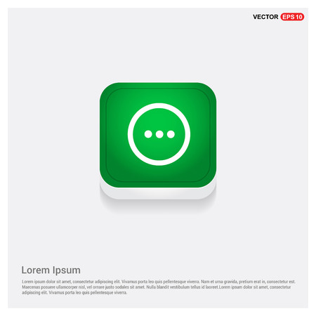 menu iconGreen Web Button - Free vector icon